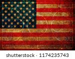 usa flag basketball grunge... | Shutterstock . vector #1174235743