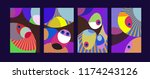 vector abstract colorful...   Shutterstock .eps vector #1174243126