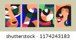 vector abstract colorful... | Shutterstock .eps vector #1174243183