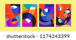 vector abstract colorful...   Shutterstock .eps vector #1174243399
