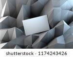 blank white business card on... | Shutterstock . vector #1174243426