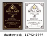 luxurious wedding invitation ... | Shutterstock .eps vector #1174249999