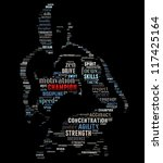 Text Image Of A Fighter With...