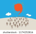 large group of people with like ... | Shutterstock .eps vector #1174252816