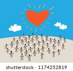 large group of people with like ... | Shutterstock .eps vector #1174252819