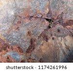 iron rust  steel rust  steel...   Shutterstock . vector #1174261996