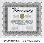 grey vintage warranty template. ... | Shutterstock .eps vector #1174273699