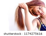 closeup portrait of female... | Shutterstock . vector #1174275616