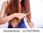 closeup portrait of female... | Shutterstock . vector #1174275643