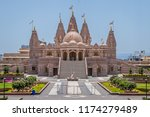 swaminarayan temple in ambegaon ... | Shutterstock . vector #1174279489