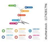 modern business infographic... | Shutterstock .eps vector #1174281796