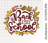 back to school lettering with... | Shutterstock .eps vector #1174291396
