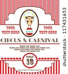 Cute Circus Card Design. Vector ...