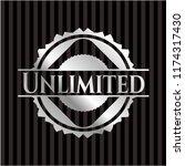 unlimited silver emblem or badge | Shutterstock .eps vector #1174317430
