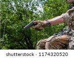 colt 45 1911 semi automatic...   Shutterstock . vector #1174320520