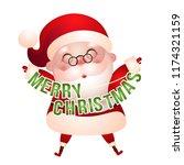 illustration of happy santa...   Shutterstock .eps vector #1174321159
