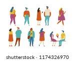 crowd. different people vector... | Shutterstock .eps vector #1174326970