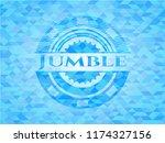 jumble light blue emblem with...   Shutterstock .eps vector #1174327156