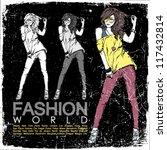 vintage vector illustration of... | Shutterstock .eps vector #117432814