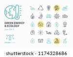 green energy   ecology vector... | Shutterstock .eps vector #1174328686