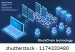 blockchain technology  concept... | Shutterstock .eps vector #1174333480