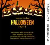 halloween party invitation... | Shutterstock .eps vector #1174335499