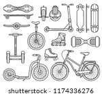 collection of alternative city...   Shutterstock . vector #1174336276