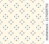 mini triangles motif. ethnic... | Shutterstock .eps vector #1174339753