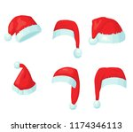 new year's hats  set | Shutterstock .eps vector #1174346113