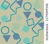seamless pop art pattern....   Shutterstock .eps vector #1174349146