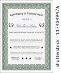 green diploma. printer friendly.... | Shutterstock .eps vector #1174349476