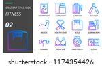 gradient style icon pack for... | Shutterstock .eps vector #1174354426
