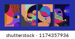 vector abstract colorful... | Shutterstock .eps vector #1174357936