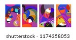 vector abstract colorful... | Shutterstock .eps vector #1174358053