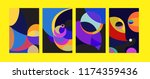 vector abstract colorful...   Shutterstock .eps vector #1174359436