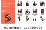 outline style icon pack for... | Shutterstock .eps vector #1174359793