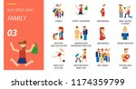 outline style icon pack for... | Shutterstock .eps vector #1174359799