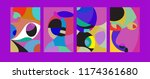 vector abstract colorful... | Shutterstock .eps vector #1174361680