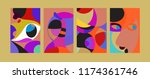 vector abstract colorful... | Shutterstock .eps vector #1174361746