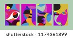 vector abstract colorful...   Shutterstock .eps vector #1174361899