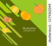pumpkin autumn vector background | Shutterstock .eps vector #1174362049