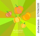 pumpkin autumn vector background | Shutterstock .eps vector #1174362100