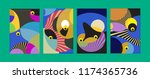 vector abstract colorful... | Shutterstock .eps vector #1174365736