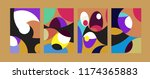 vector abstract colorful...   Shutterstock .eps vector #1174365883