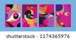 vector abstract colorful... | Shutterstock .eps vector #1174365976