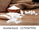 various types of sugar  white... | Shutterstock . vector #1174367950