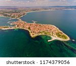 aerial view of nessebar ... | Shutterstock . vector #1174379056