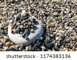 Stack Of Many Small Pebbles On...