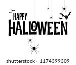 happy halloween vector... | Shutterstock .eps vector #1174399309