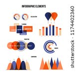 business data visualisation...   Shutterstock .eps vector #1174402360